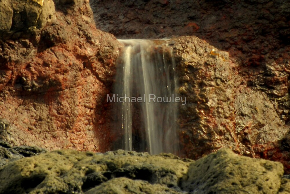 Beach Waterfall by Michael Rowley