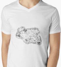 Skyrim Map Men's V-Neck T-Shirt