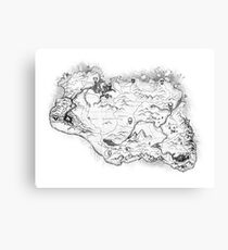 Skyrim Map Canvas Print