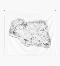 Skyrim Map Wall Tapestry