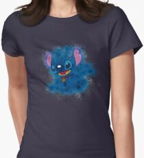Stitch - Painted Art Womens Fitted T-Shirt