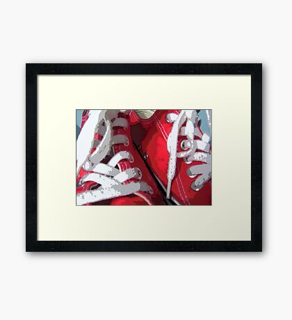 sneakers Framed Print