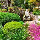Ryukoji Temple Gardens Shikoku Japan by Caren della Cioppa