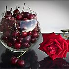 Cherry and  a Rose by Valentina Gatewood