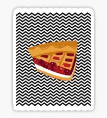 Twin Peaks Black Lodge Pie Sticker