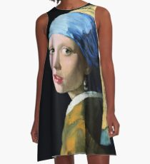 Girl With a Pearl Earring A-Line Dress