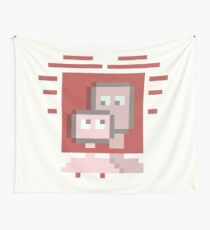 Pixel Love Wall Tapestry