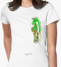 'Pia Croc' (Drag Racer Series) Women's Fitted T-Shirt