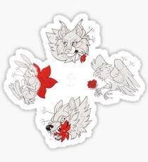 Animals and Flowers Tattoo Flash Sheet Sticker