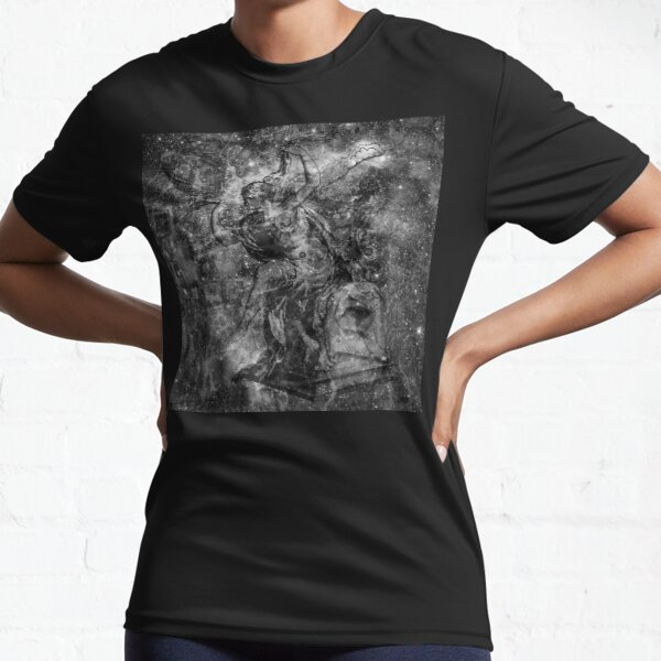 When The Stars Are Right - The Heart and Soul Nebulae in Cassiopeia (b&w version) Active T-Shirt