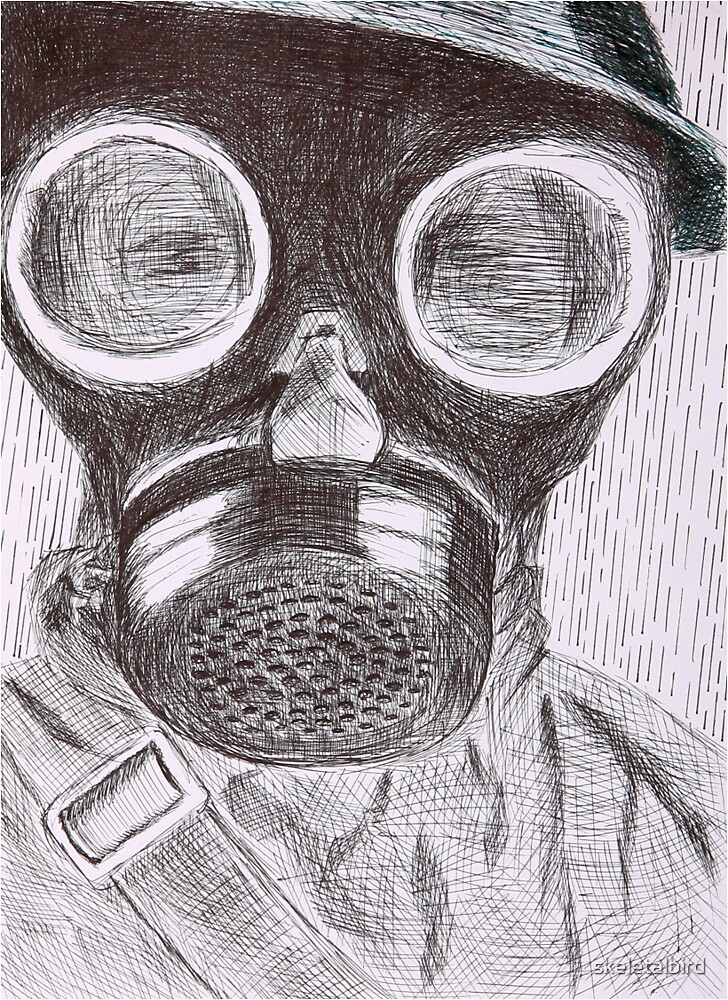 gasmask by skeletalbird