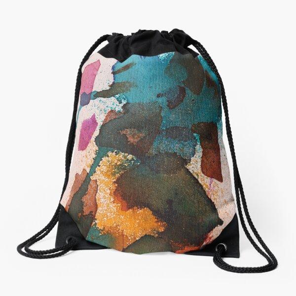 Small abstract version 2 Drawstring Bag