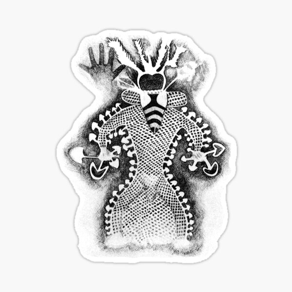 The Bee Faced Shaman Sticker