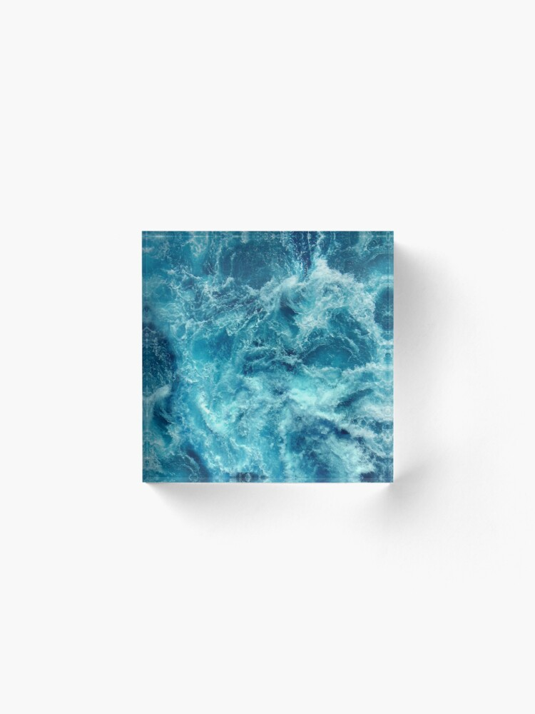 Alternate view of Ocean is shaking Acrylic Block