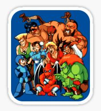 Early 1990s Capcom Character Lineup Sticker