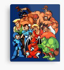 Early 1990s Capcom Character Lineup Metal Print