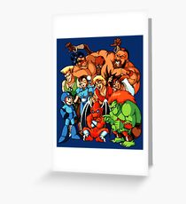 Early 1990s Capcom Character Lineup Greeting Card