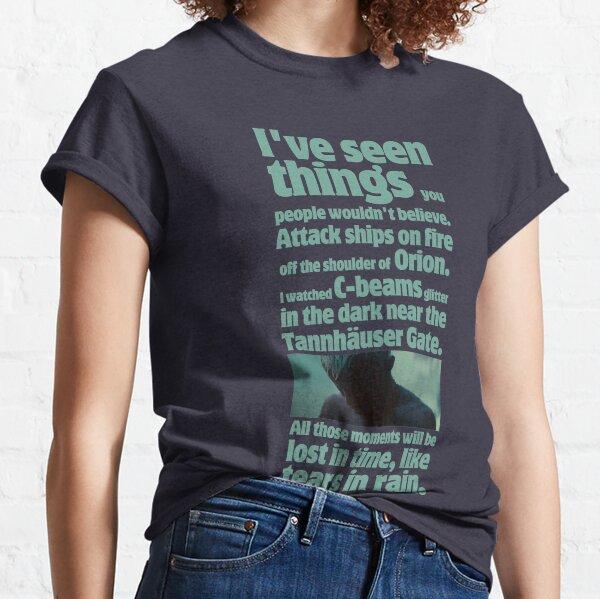 como lágrimas en la lluvia - cita de Blade Runner Camiseta clásica