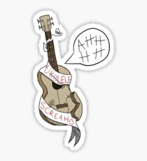 ukulele screamo Sticker