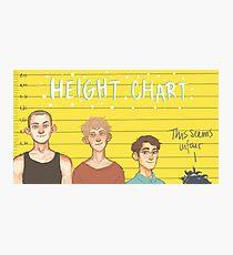 Height Chart Photographic Print
