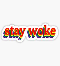 Stay Woke Graphic Sticker
