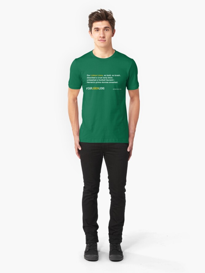 Alternate view of Our Lisbon Lions Slim Fit T-Shirt
