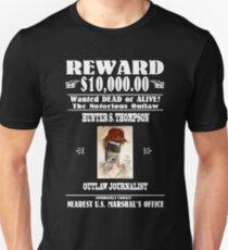 WANTED: Hunter S. Thompson (Black) Unisex T-Shirt