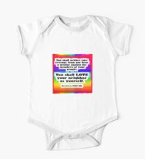 Love Your Neighbor As Your Self -Leviticus, Rainbo One Piece - Short Sleeve