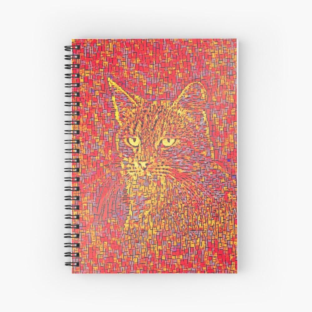Goldenrod Crimson Spiral Notebook
