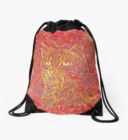 Goldenrod Crimson Drawstring Bag