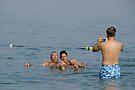 Dead Sea Bathing Israel by Moshe Cohen