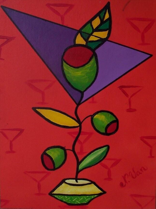 Orange Funky Martini by Nathalie Van