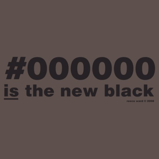 TShirtGifter presents: #000000 is the new black
