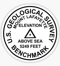Mount Lafayette, New Hampshire USGS Style Benchmark Sticker