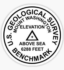 Mount Washington, New Hampshire USGS Style Benchmark Sticker