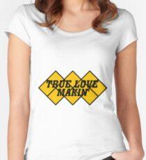 Capcom vs snk 2 cvs2 Classic RARE Design TRUE LOVE MAKIN BLACK. 100% Redrawn In Adobe Illustrator Vector Format. Women's Fitted Scoop T-Shirt