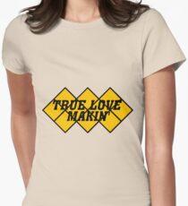Capcom vs snk 2 cvs2 Classic RARE Design TRUE LOVE MAKIN BLACK. 100% Redrawn In Adobe Illustrator Vector Format. Womens Fitted T-Shirt