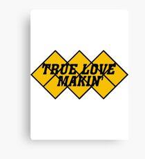 Capcom vs snk 2 cvs2 Classic RARE Design TRUE LOVE MAKIN BLACK. 100% Redrawn In Adobe Illustrator Vector Format. Canvas Print