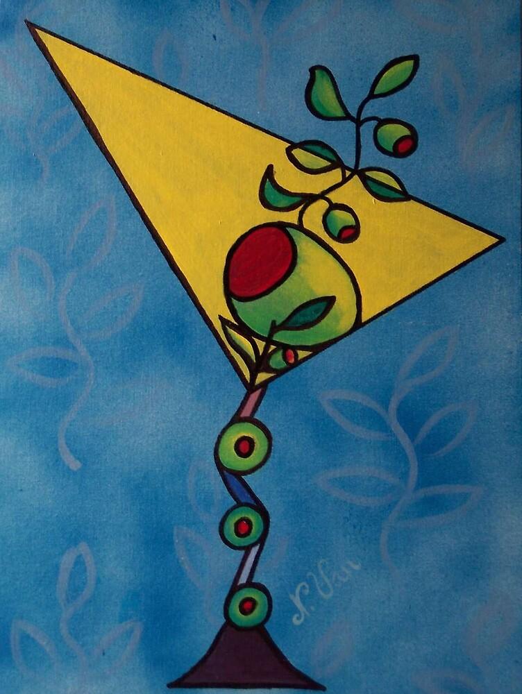 Sky Blue Funky Martini by Nathalie Van