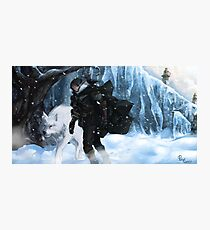 Jon Snow and Ghost Photographic Print