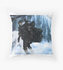 Jon Snow and Ghost Throw Pillow