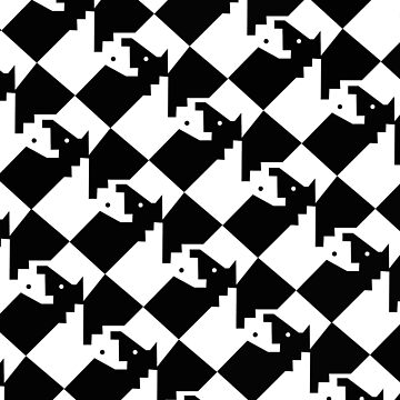 Chess Board - Interlocking Knights  by Horseworks