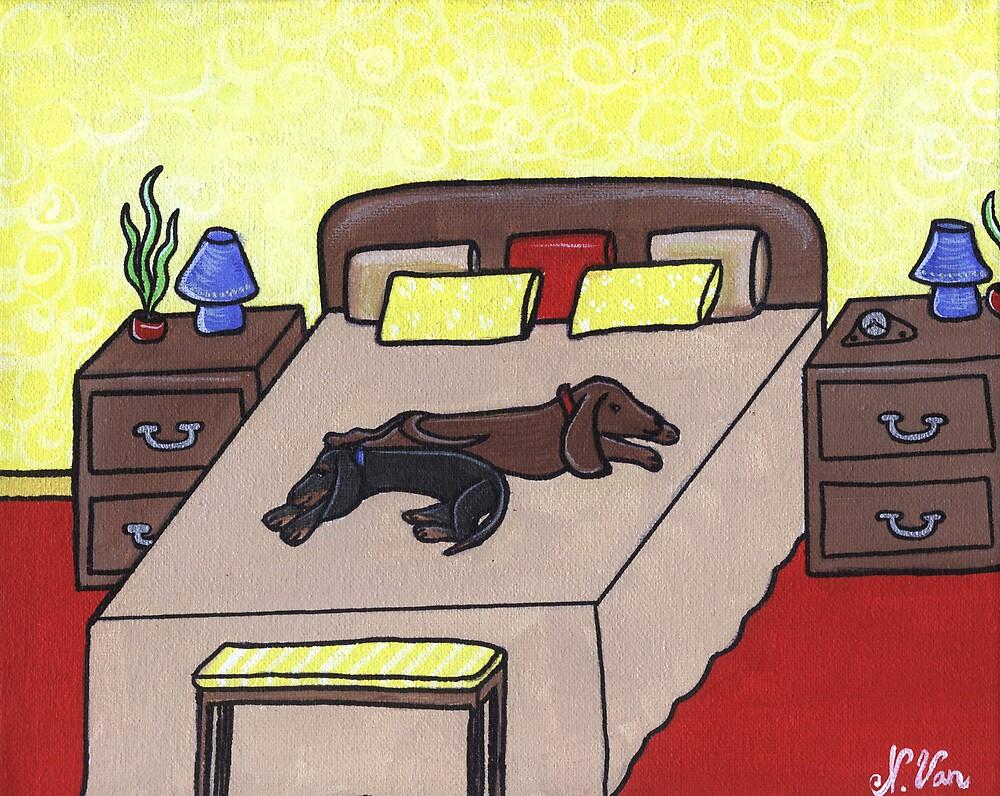 Sneaking a Nap by Nathalie Van