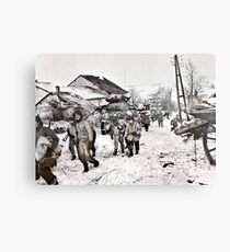 Recon Soldiers in the Snow Canvas Print