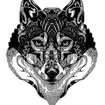 Mandala de lobo de NoraMohammed