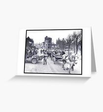 Villagers Escaping Bastogne Greeting Card