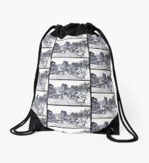 Villagers Escaping Bastogne Drawstring Bag