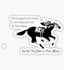 The Greatest Race Horses.... Sticker