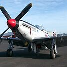 P51 Mustang ready for takeoff.....!! by Roy  Massicks