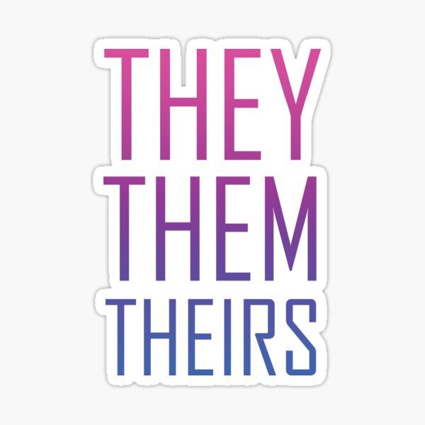 They Them Bi Pride Sticker
